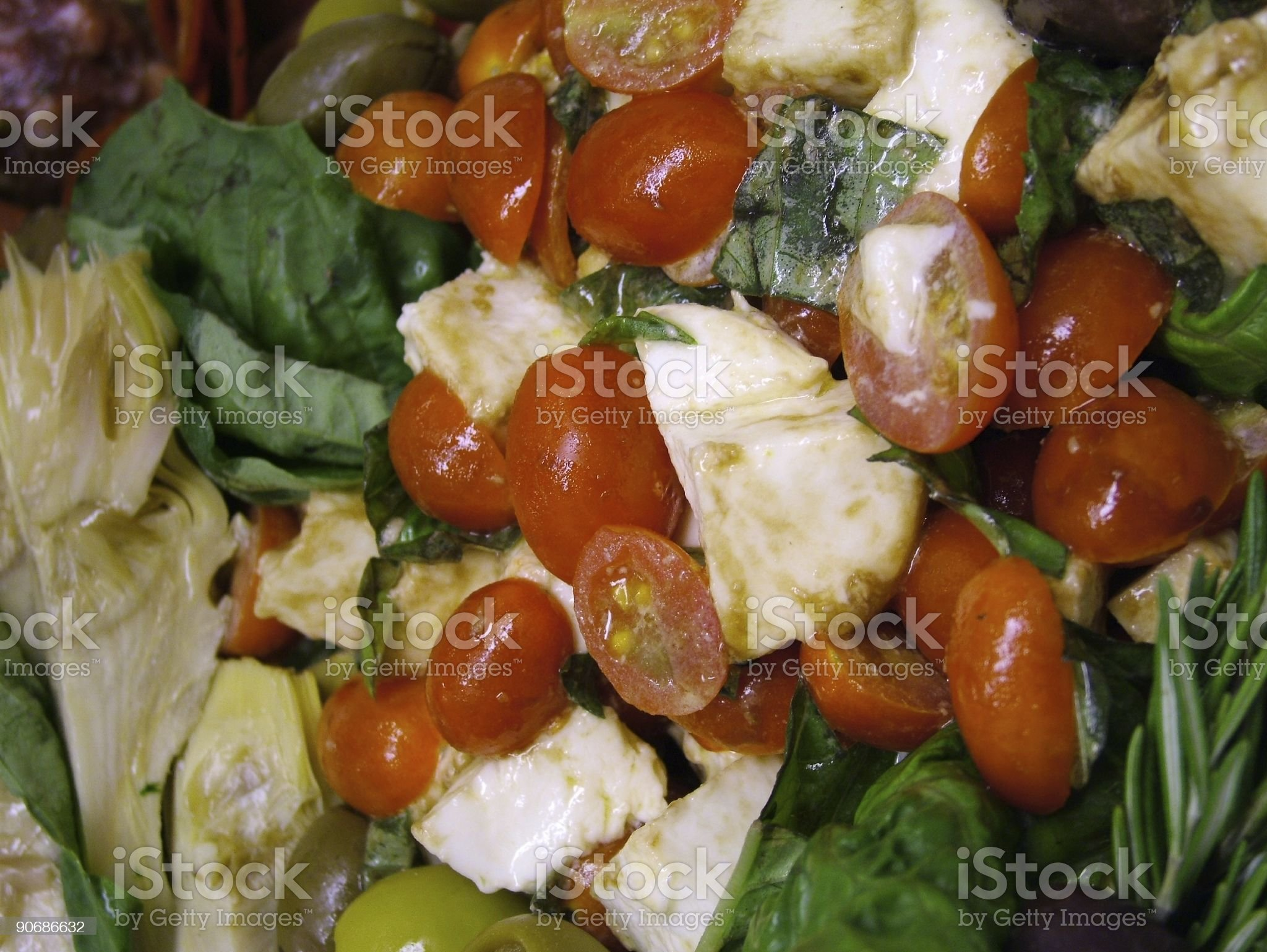 Tomatoes and Mozzarella royalty-free stock photo