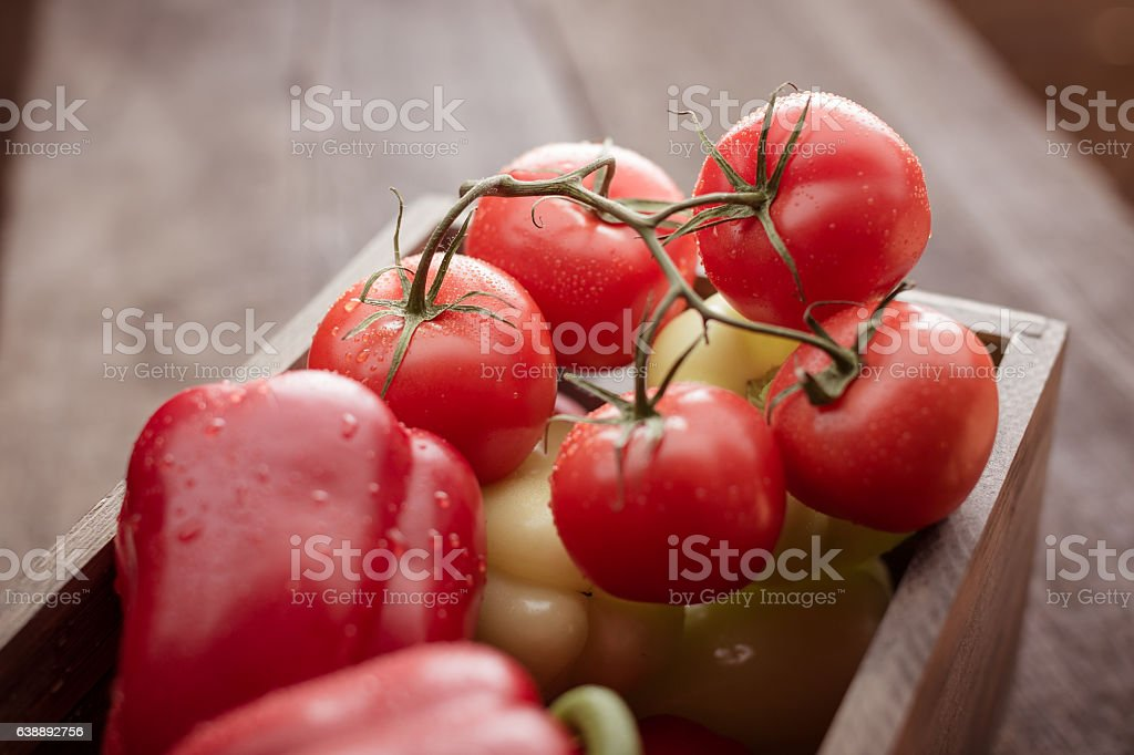 Tomatoes And Pappers stock photo
