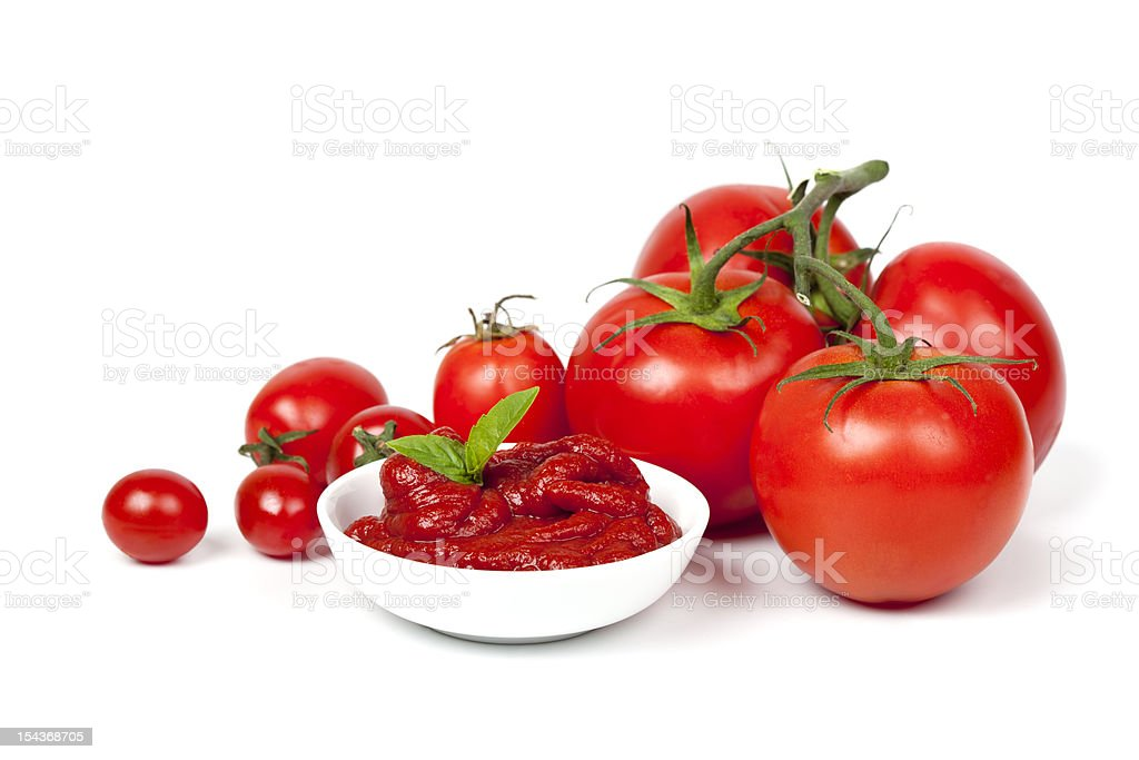 Tomatoes and Tomato Paste stock photo