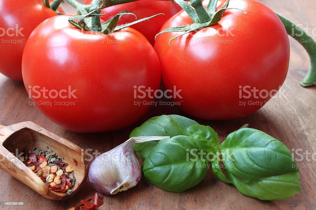 tomatoes for antipasti stock photo