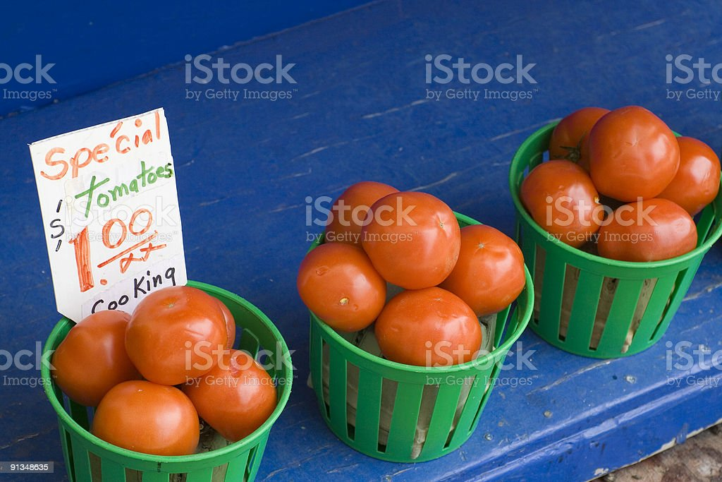 Tomatoes For Sale royalty-free stock photo