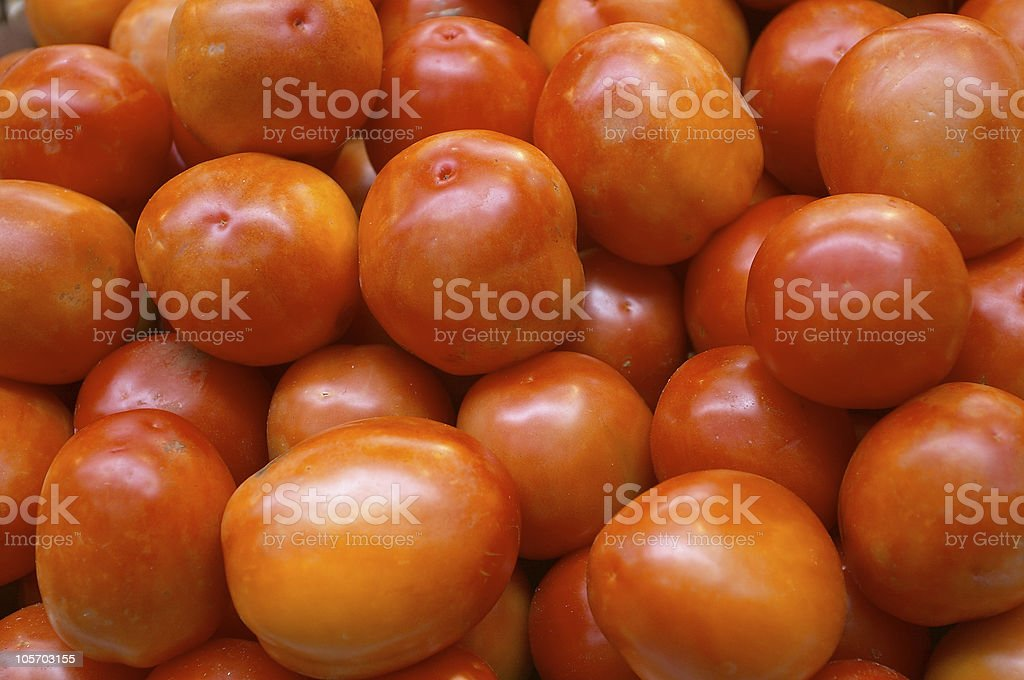 Tomatoes in the market royalty-free stock photo