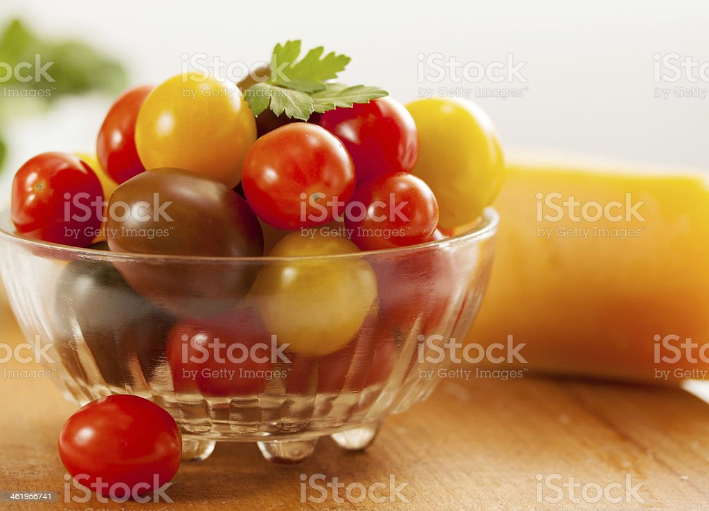tomatoes on the plate royalty-free stock photo