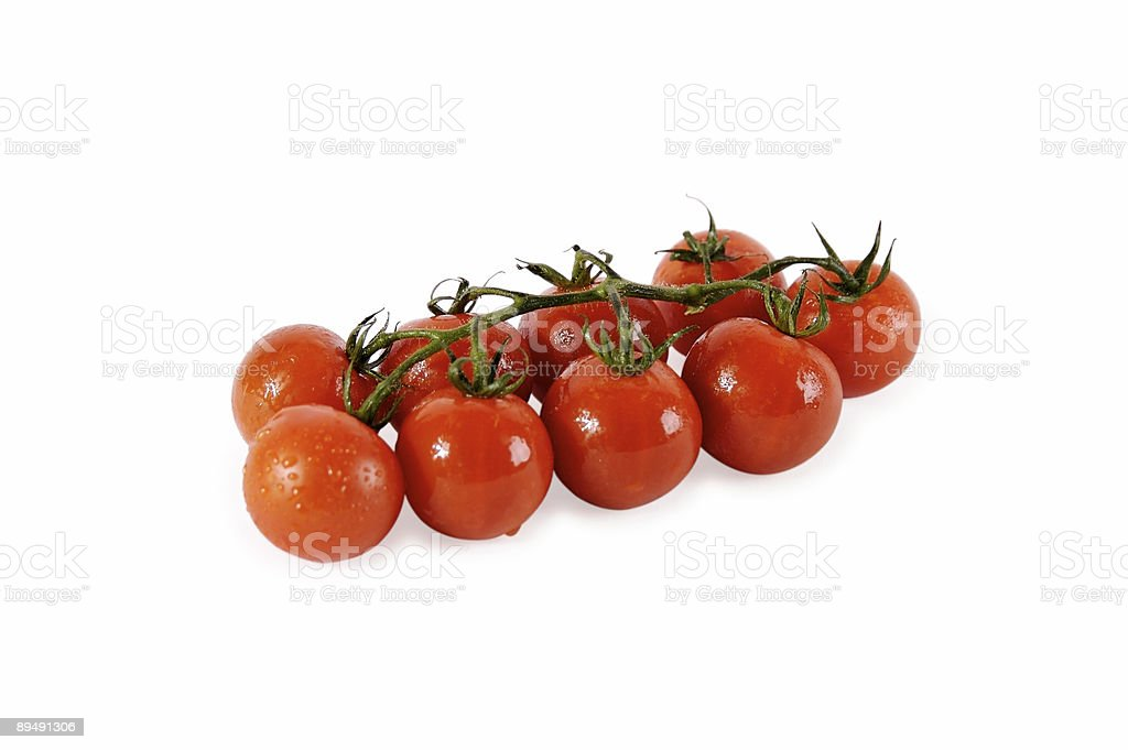 Tomatoes on the vine... royalty-free stock photo