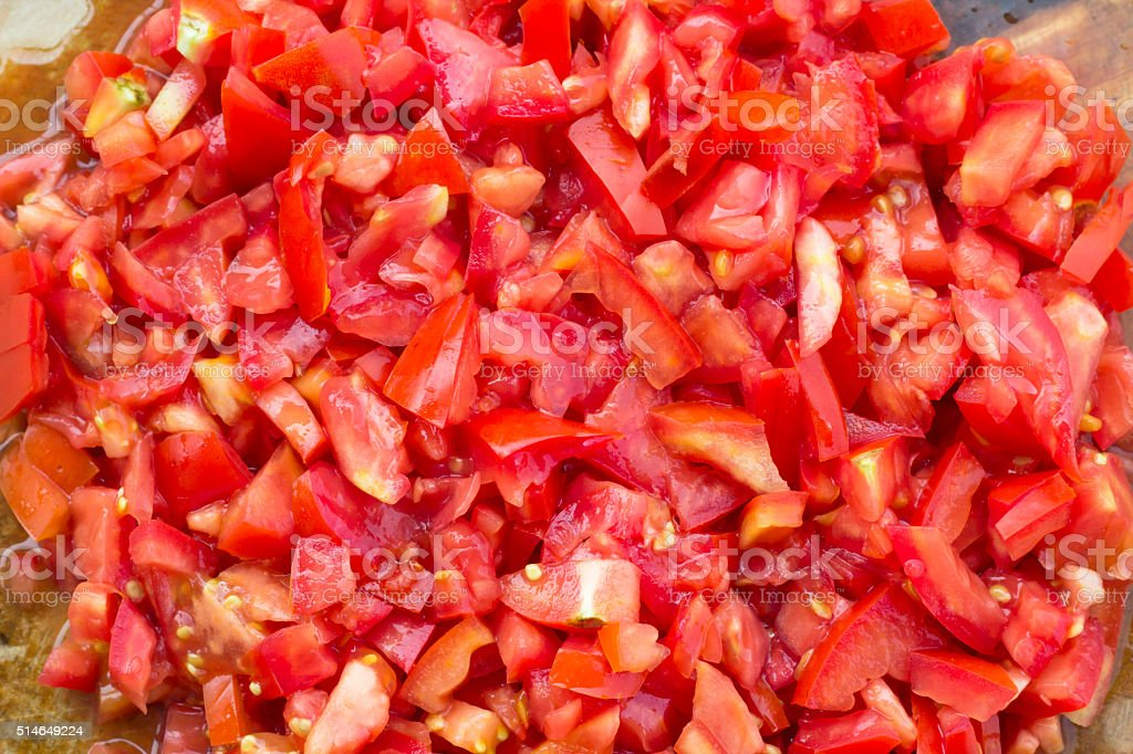 tomatoes pieces texture pattern stock photo