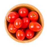 Tomatoes plum shaped in a bowl