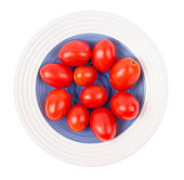 Tomatoes plum shaped in a plate