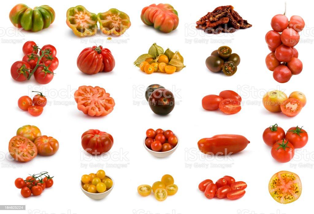 Tomatoes set. XXXL stock photo