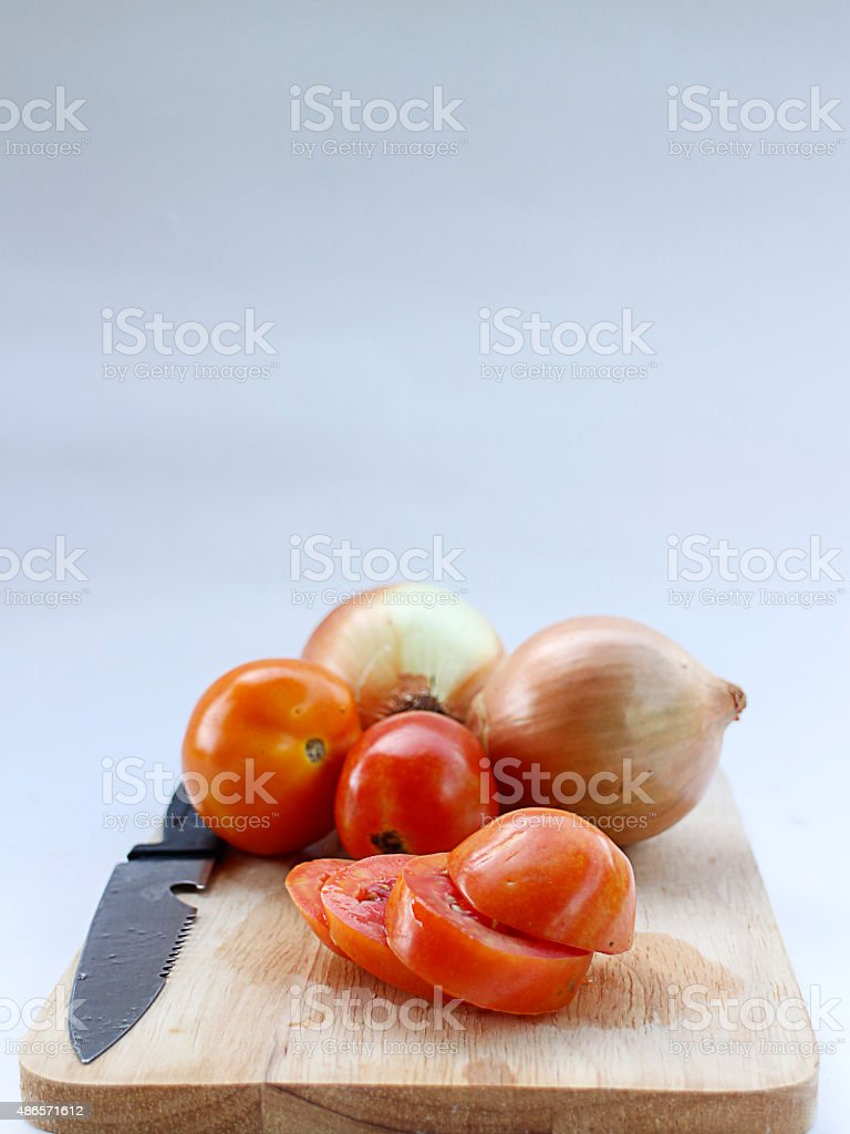 tomatoes sliced and onions royalty-free stock photo