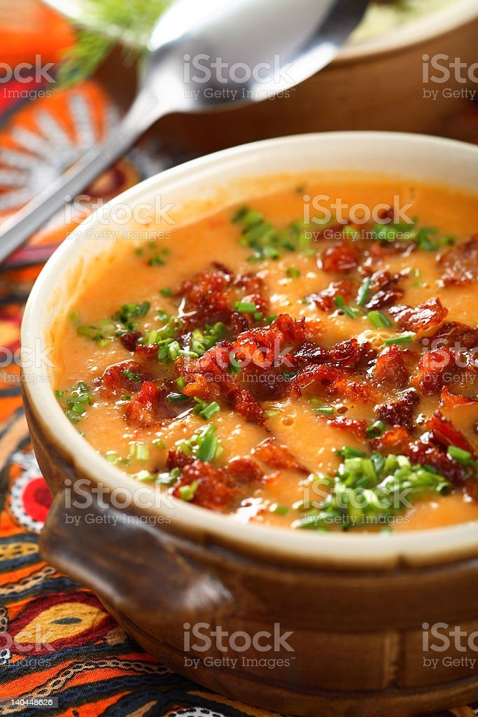 Tomatoes soup royalty-free stock photo