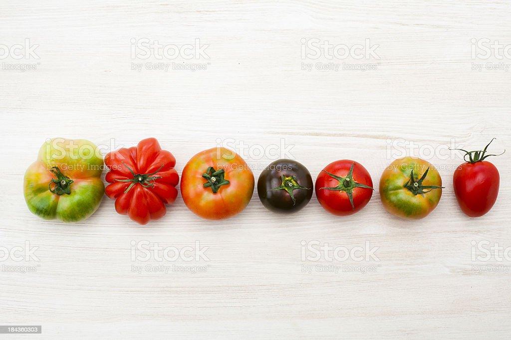Tomatoes variety stock photo