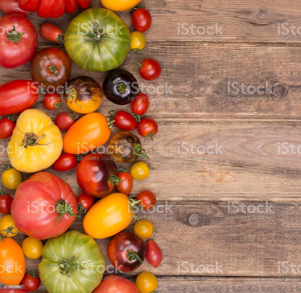 Tomatoes, various types stock photo