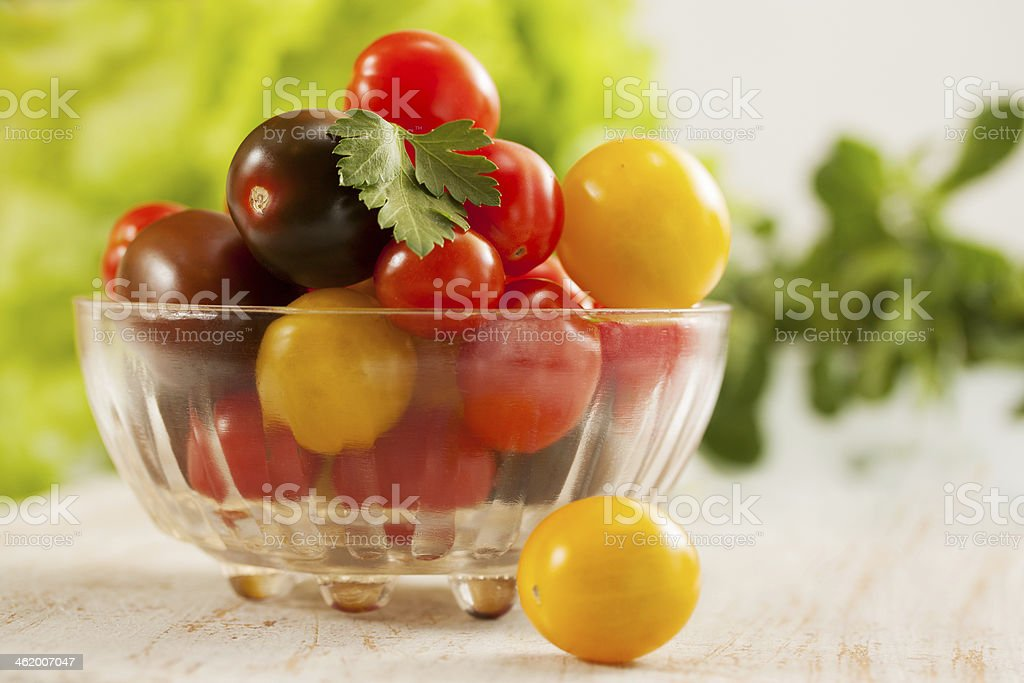 tomatoes with herbs royalty-free stock photo