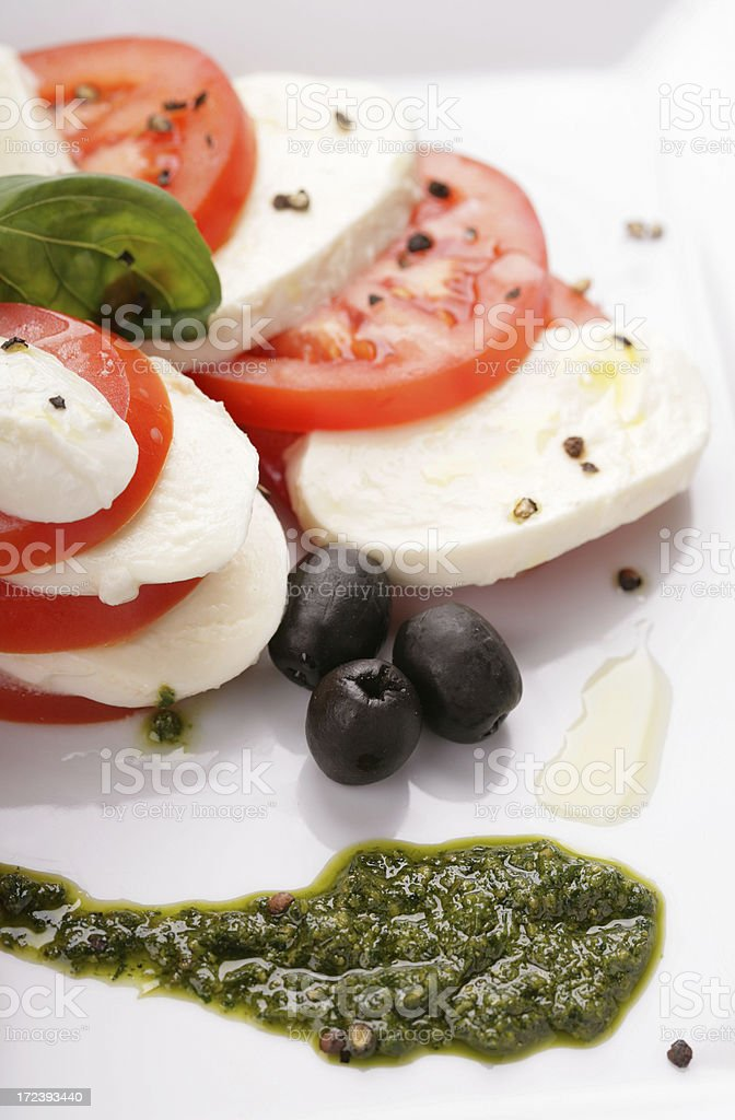 tomatoes with mozarella royalty-free stock photo