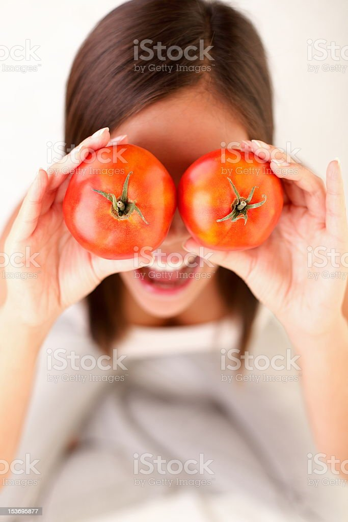 Tomatoes Woman royalty-free stock photo