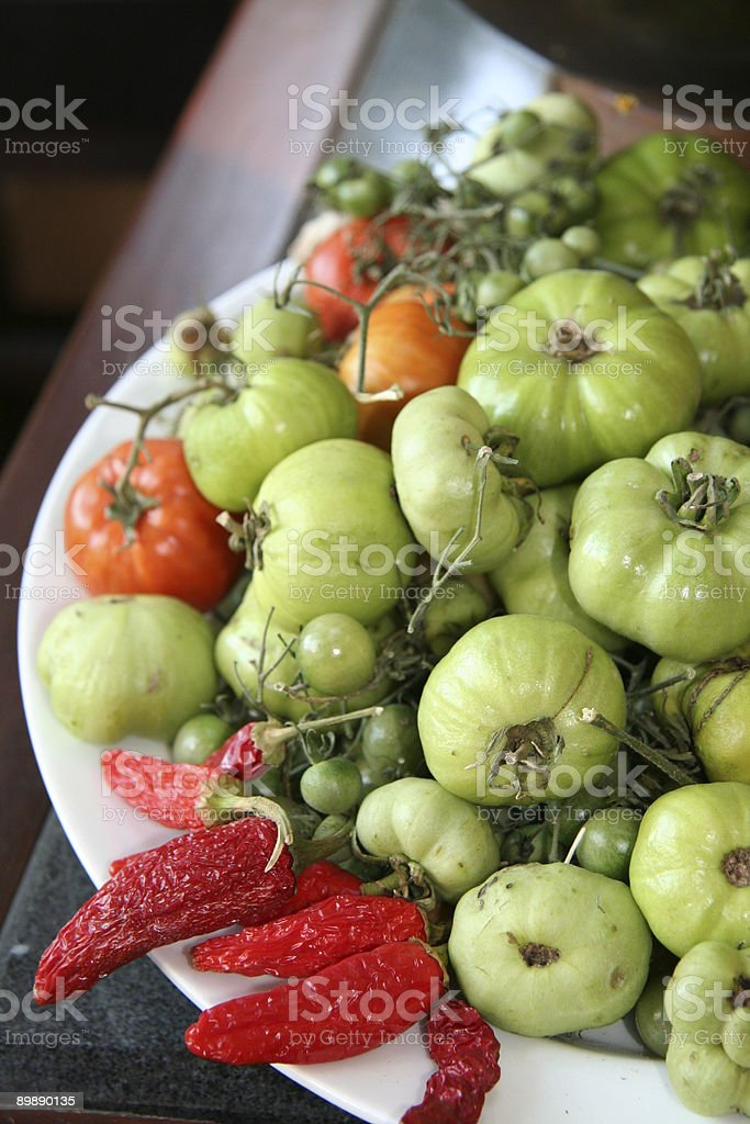 Tomatos and red peppers royalty-free stock photo