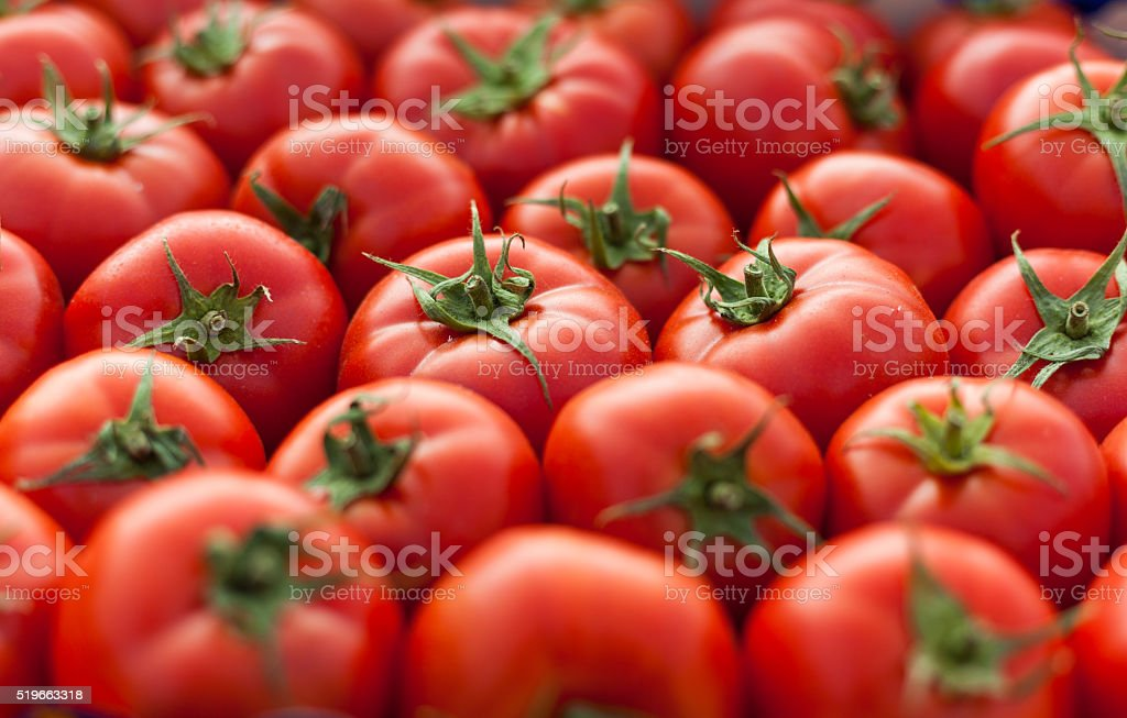Tomatos background stock photo