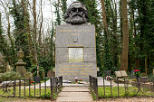 Tomb and statue of socialist philosopher and economist Karl Marx