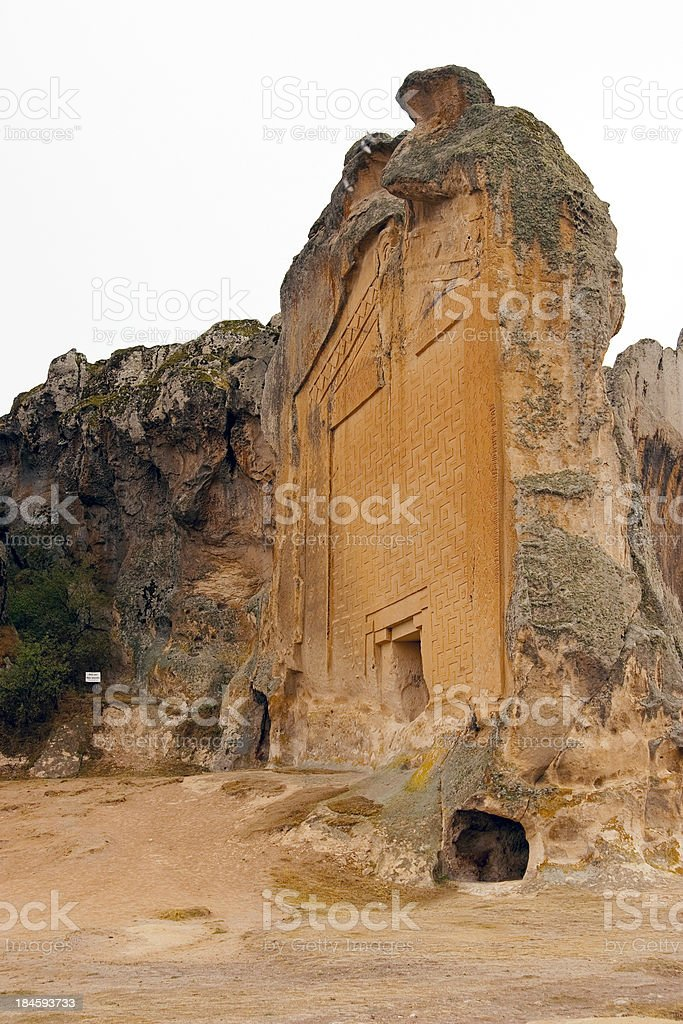 Tomb at Midas City stock photo
