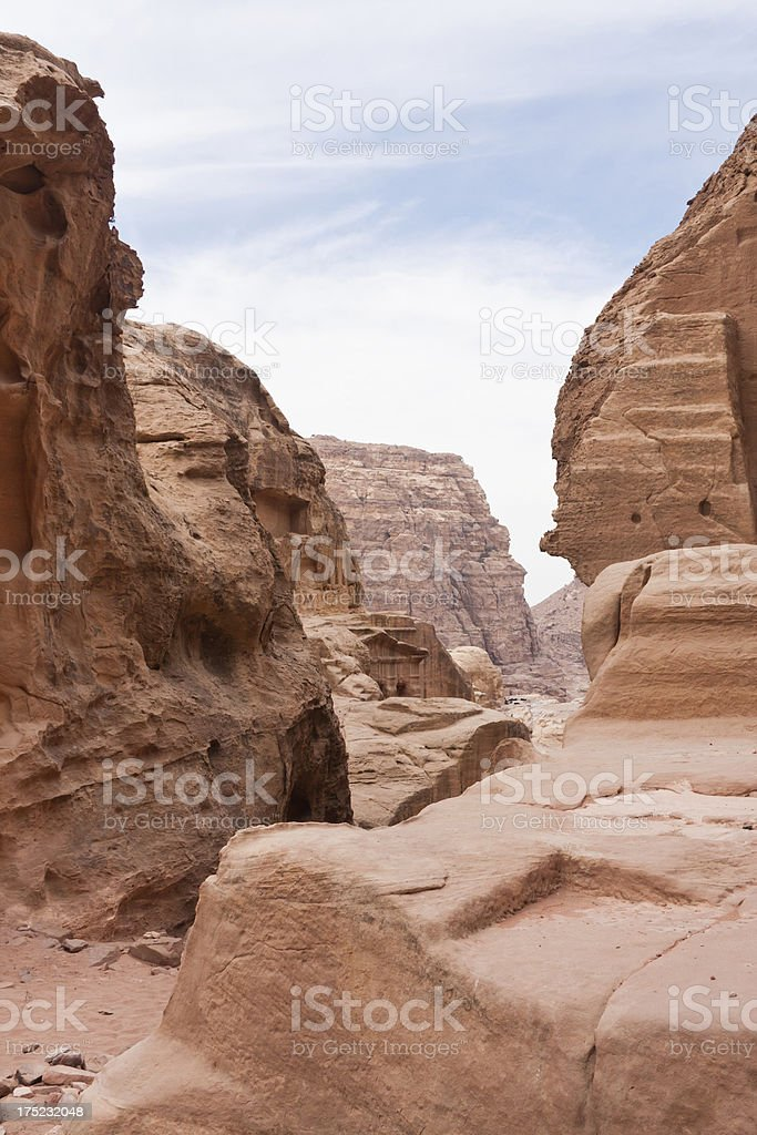 Tomb at Petra in Jordan royalty-free stock photo