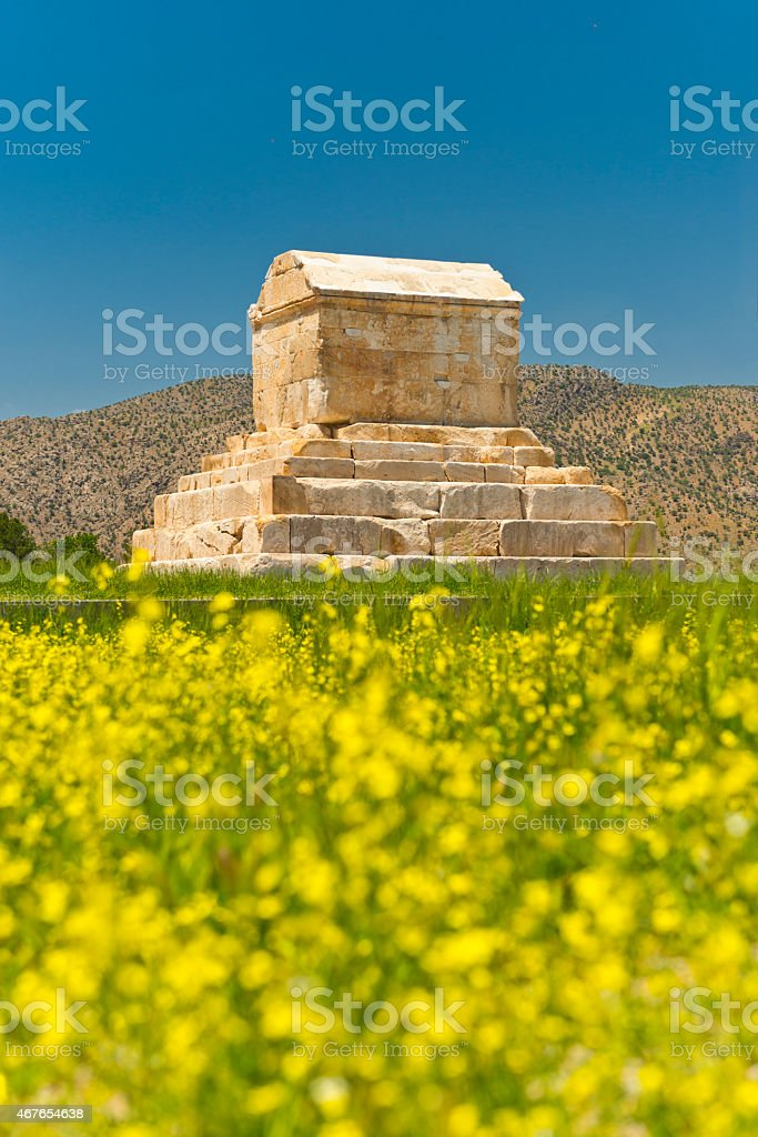 Tomb Cyrus Iran stock photo