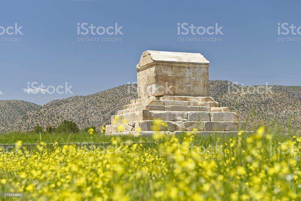 Tomb Cyrus stock photo