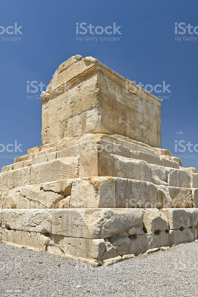 Tomb Cyrus stock photo