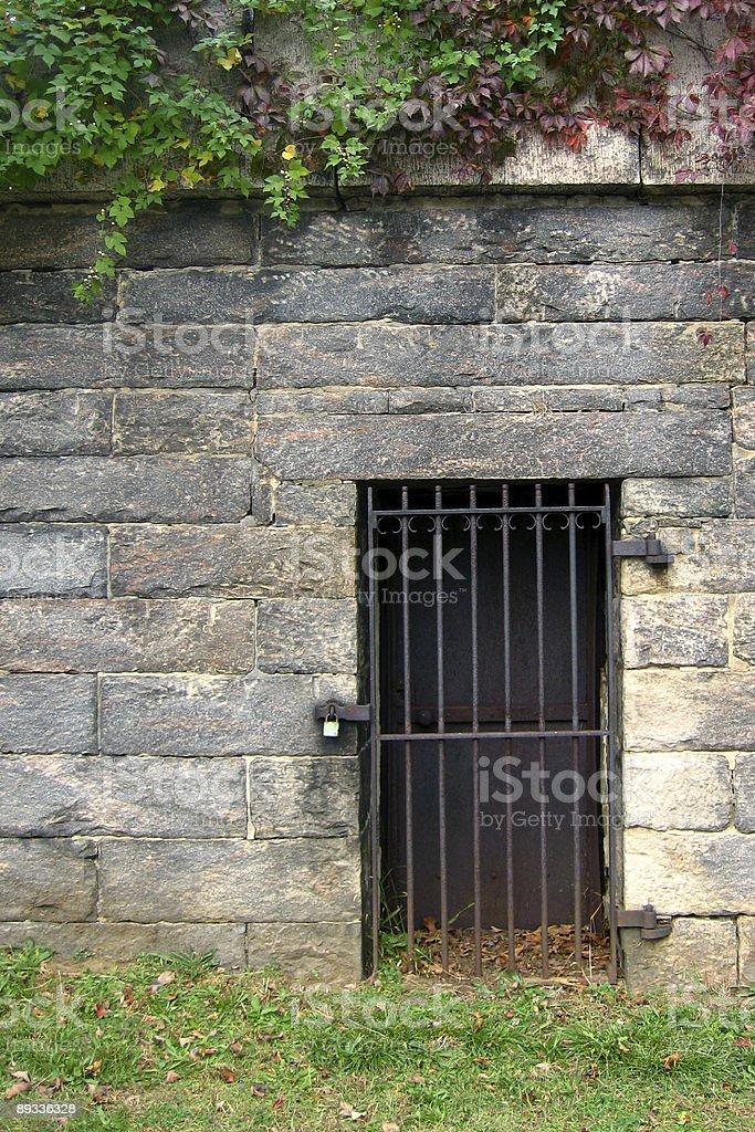 Tomb Door stock photo