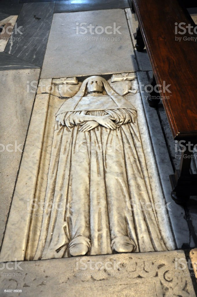 Tomb in Basilica of Santa Maria del Popolo stock photo