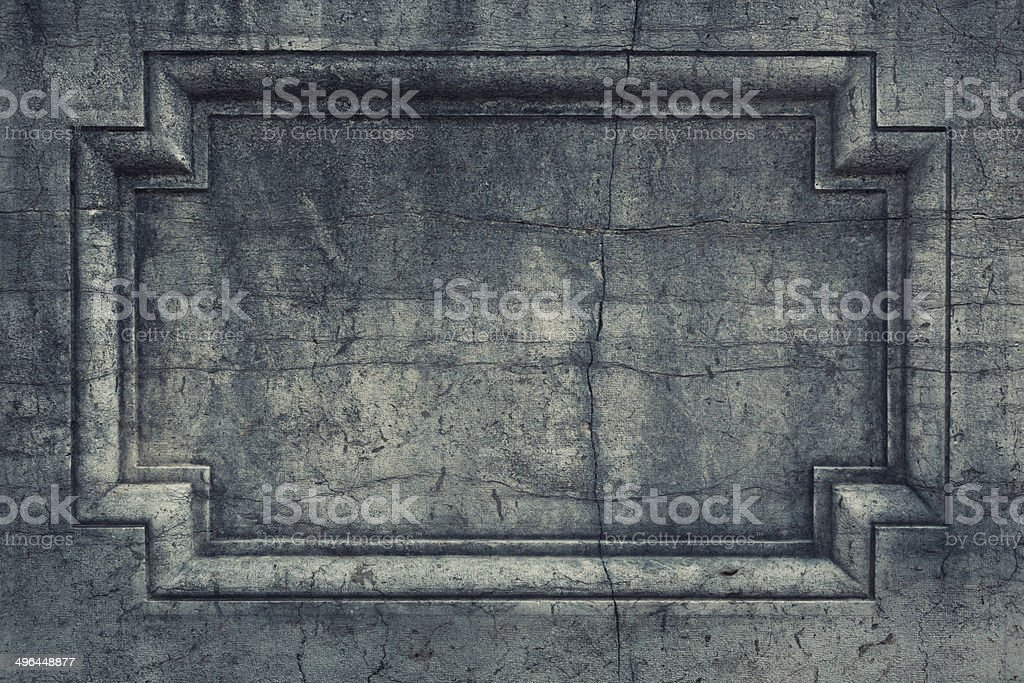 Tomb nameplate stock photo
