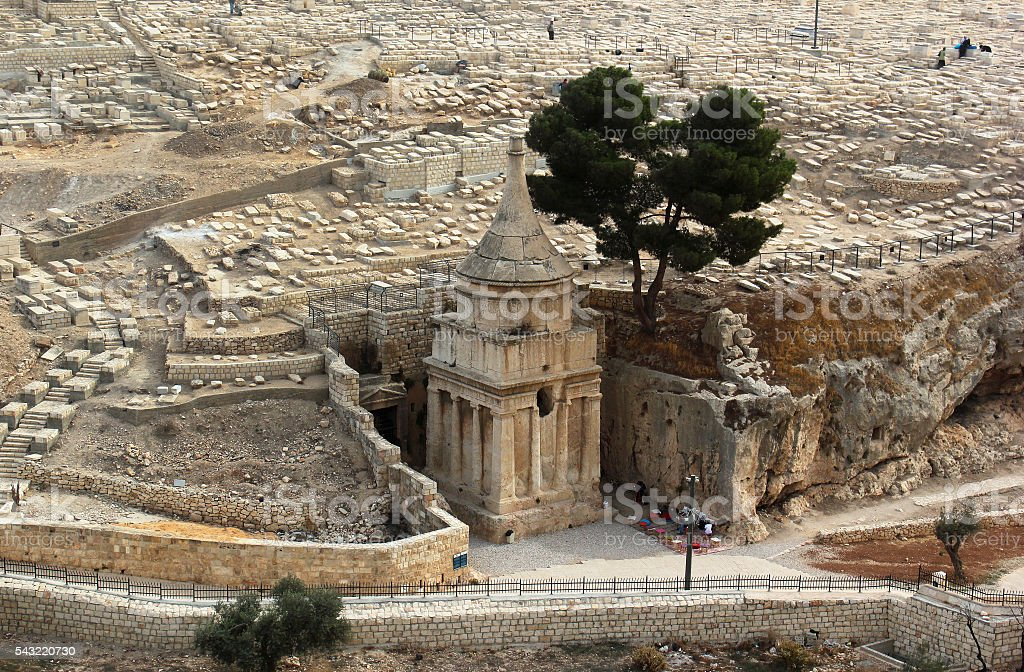Tomb of Absalom in Kidron Valley, Jerusalem, stock photo