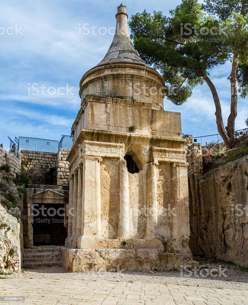 Tomb of Absalom, Jerusalem stock photo