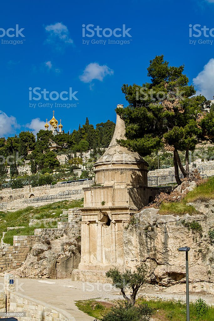 Tomb of Absalom stock photo