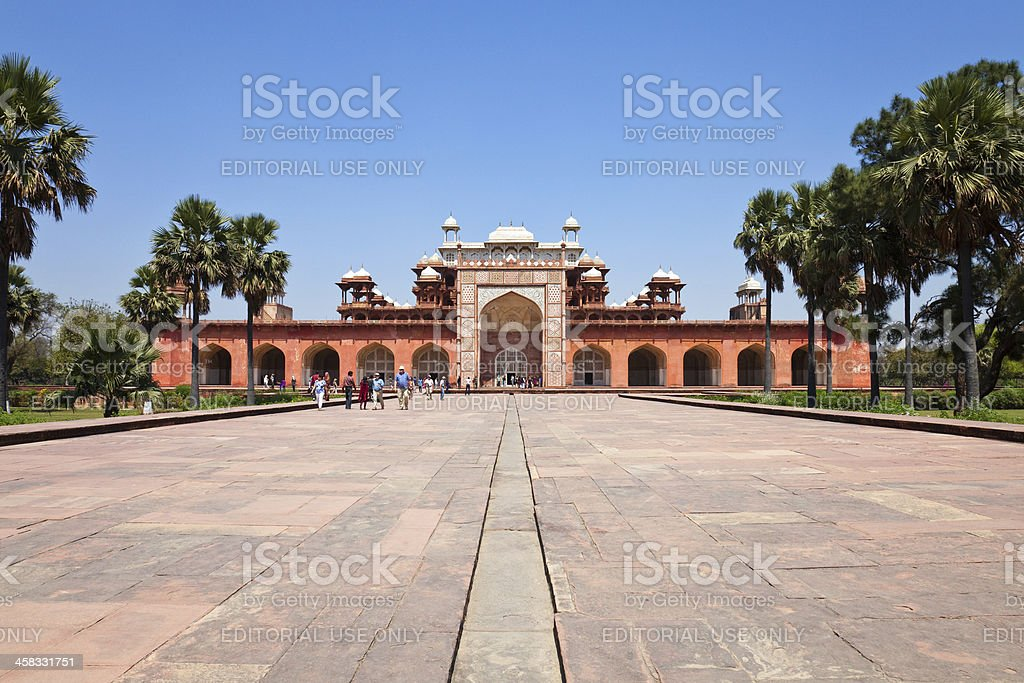 Tomb of Akbar the Great royalty-free stock photo
