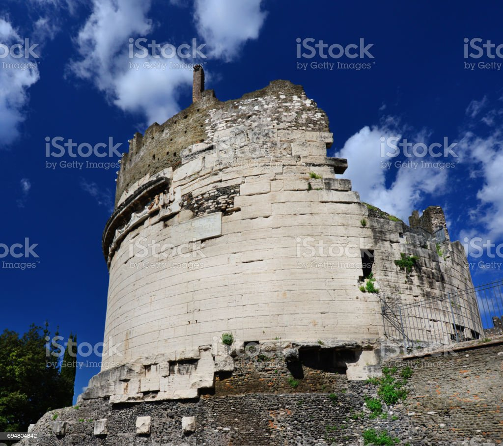 Tomb of Caecilia Metella stock photo