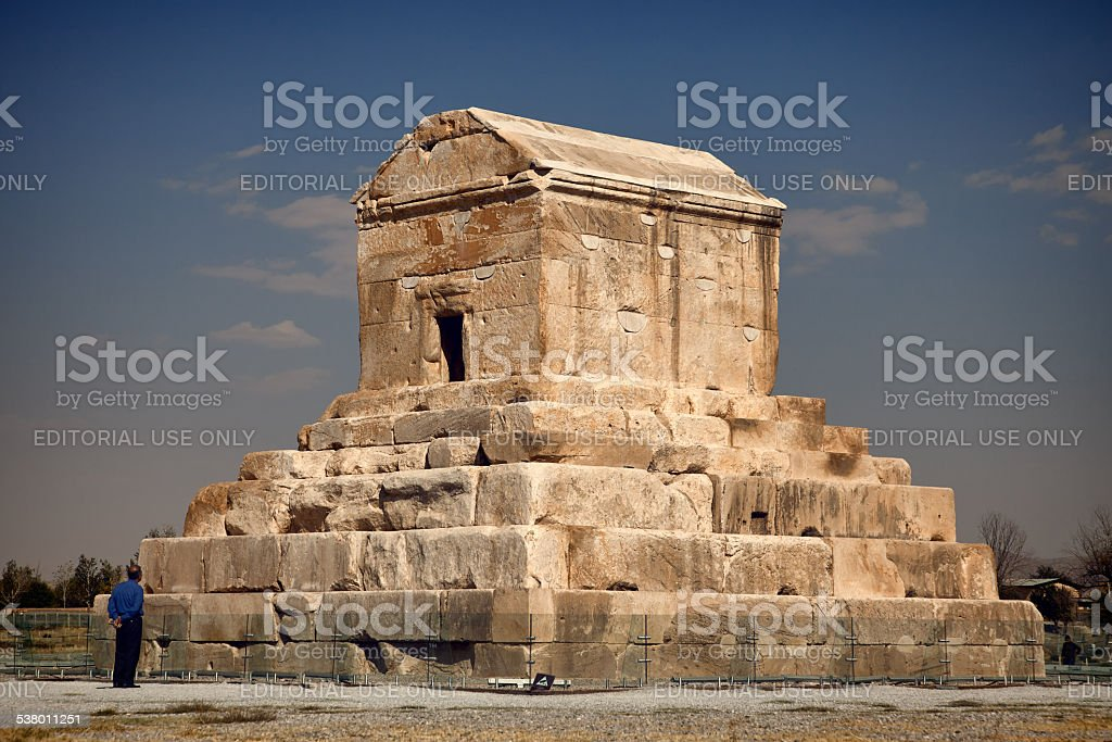 Tomb of Cyrus in Pasargadae of Shiraz stock photo