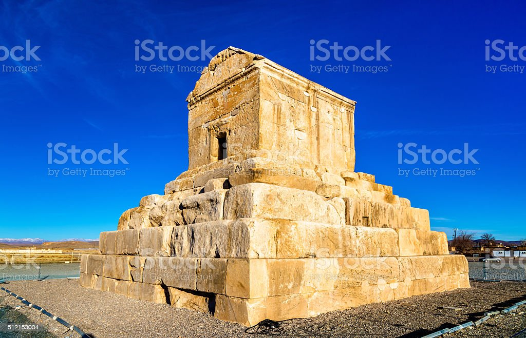Tomb of Cyrus the Great in Pasargadae, Iran stock photo