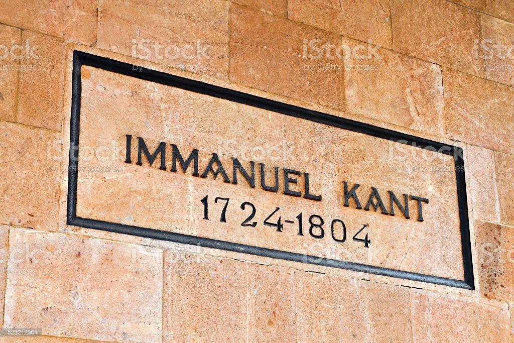Tomb of Immanuel Kant. Kaliningrad (until 1946 Koenigsberg), Rus stock photo