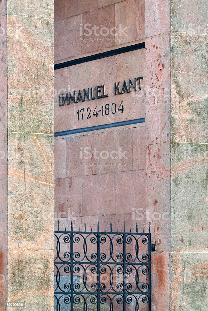 Tomb of Immanuel Kant. Kaliningrad, Russia stock photo