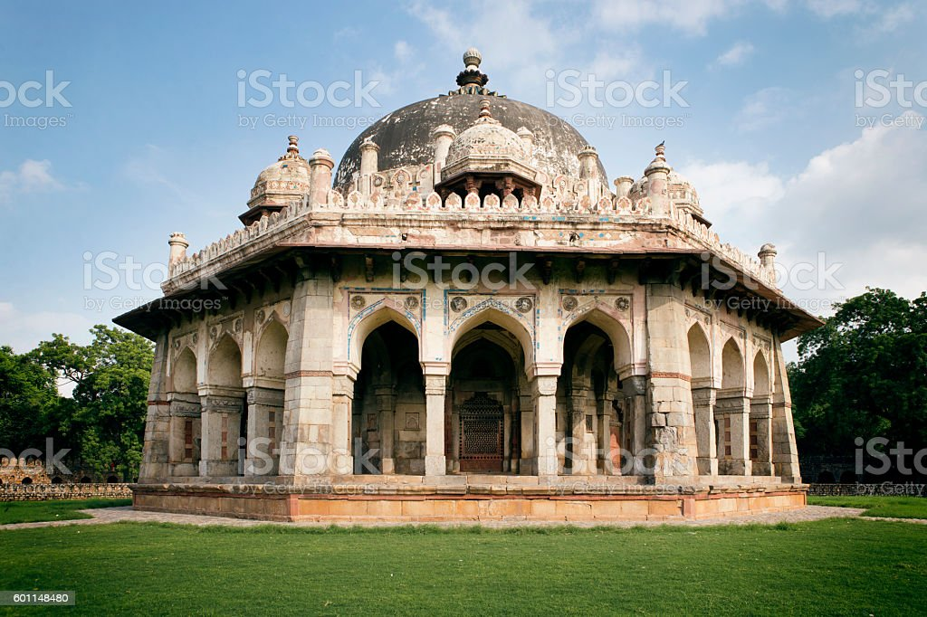 Tomb of Isa Khan in Delhi India stock photo