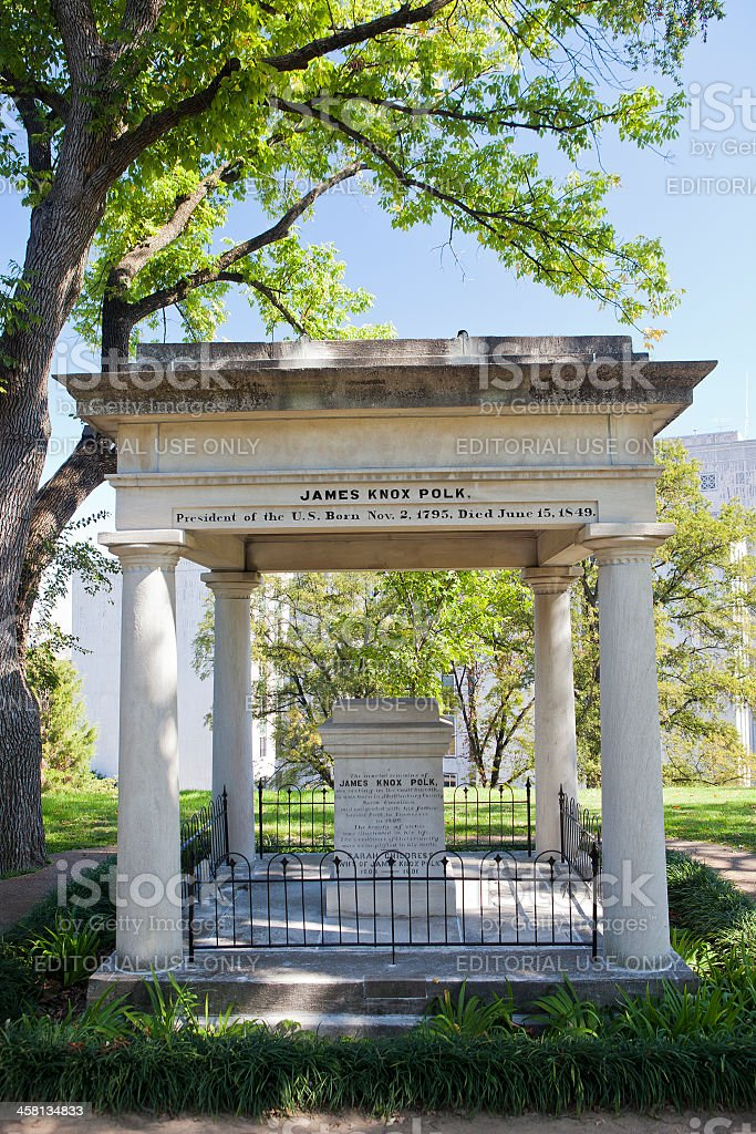 Tomb Of James Knox Polk In Nashville, Tennessee stock photo