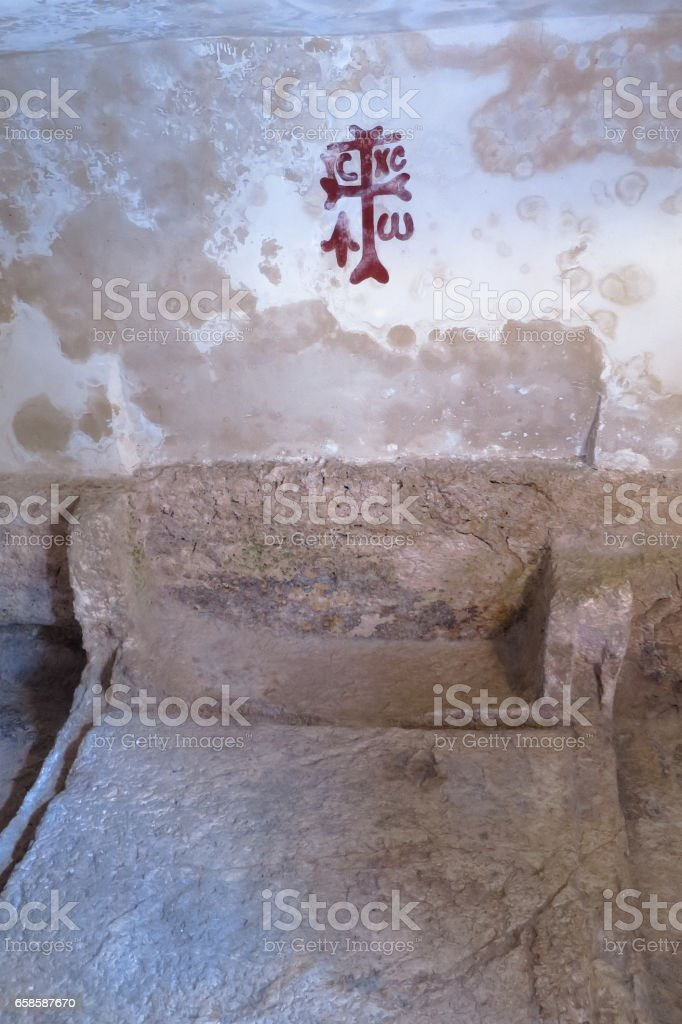 Tomb of Jesus - Garden Tomb - Jerusalem stock photo