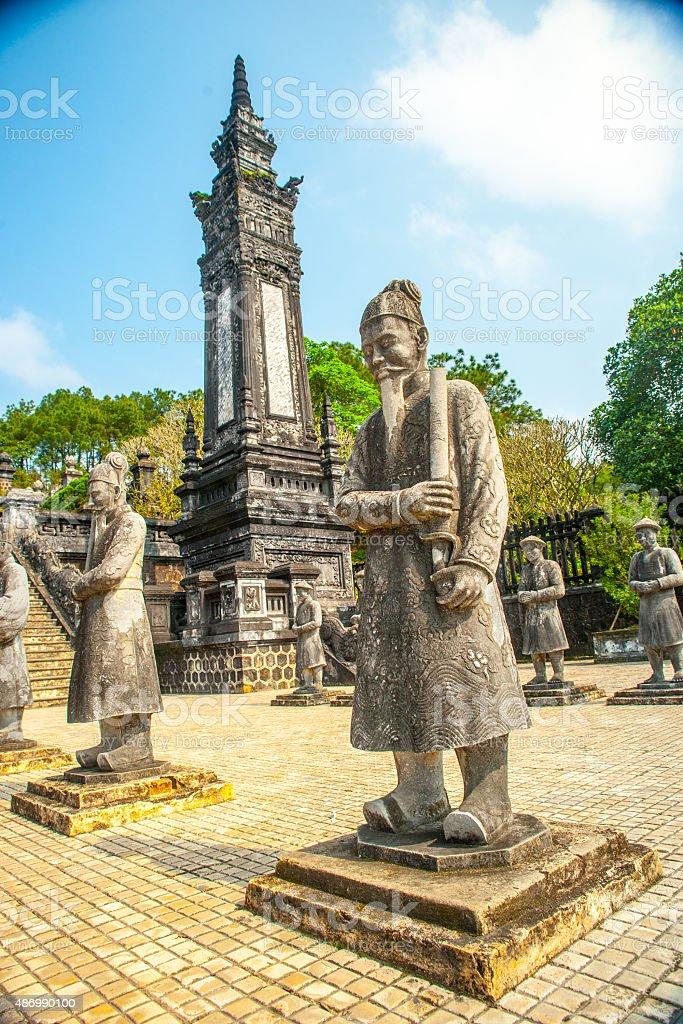 Tomb of Khai Dinh emperor in Hue, Vietnam. stock photo