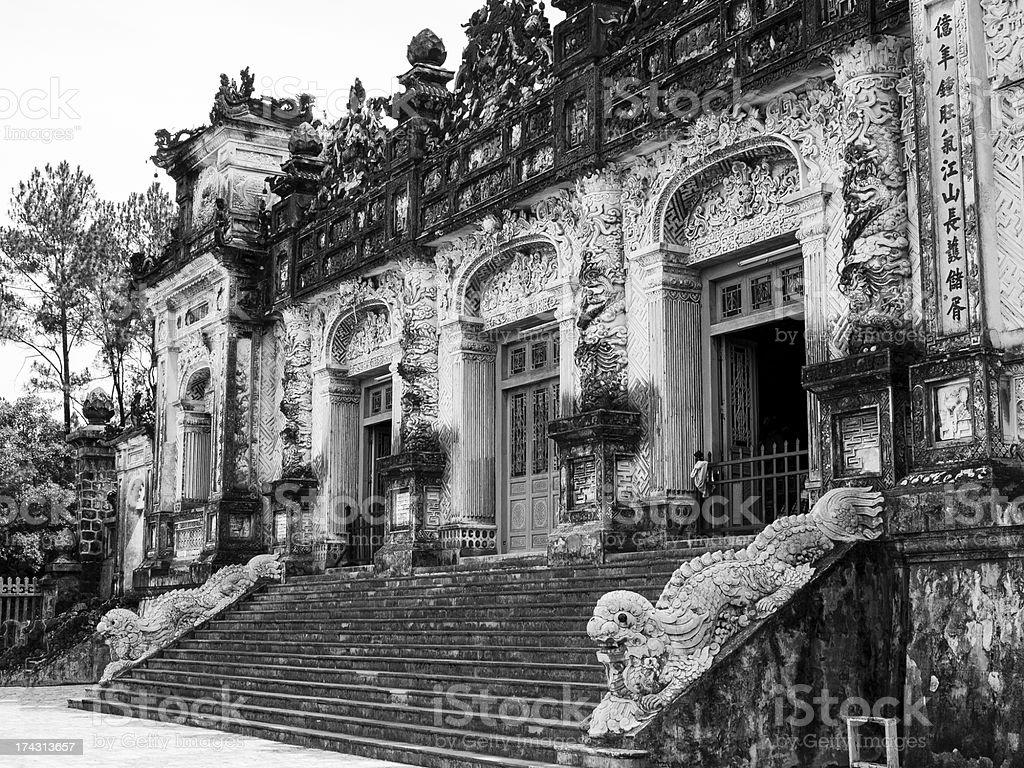 Tomb of Khai Dinh royalty-free stock photo