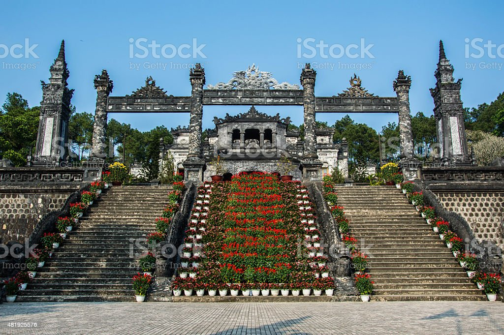 Tomb of Khai Dinh stock photo