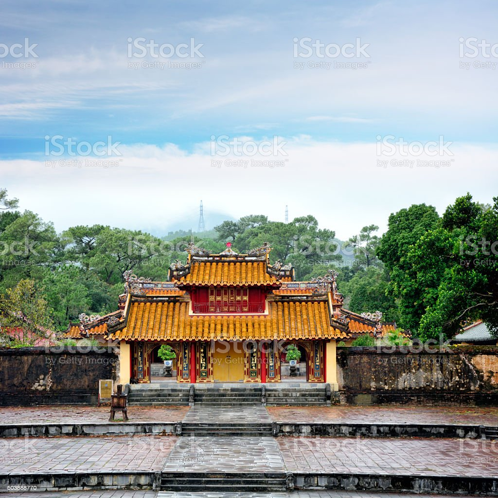 Tomb of Minh Mang, Vietnam stock photo