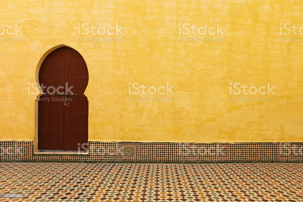 Tomb of Moulay Ismail, Meknes, Morocco stock photo