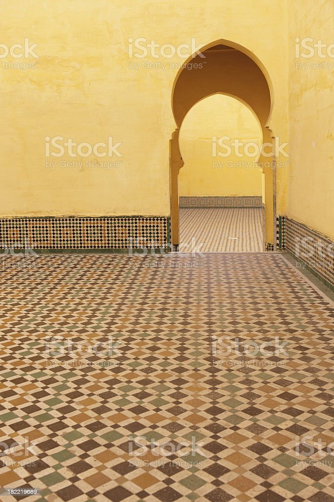 Tomb of Moulay Ismail, Meknes, Morocco royalty-free stock photo