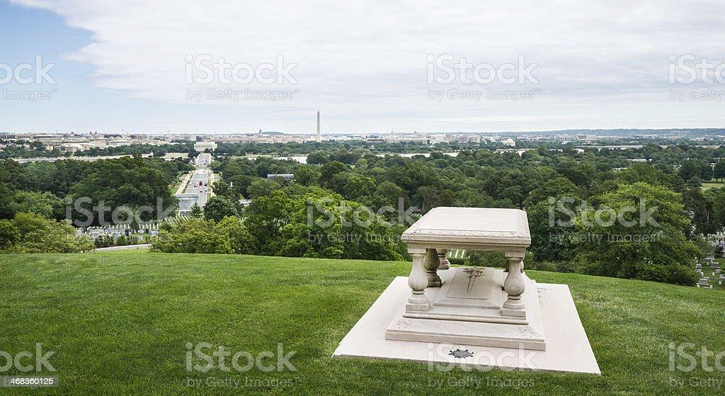 Tomb of Pierre Charles L'Enfant in Arlington, Virginia stock photo