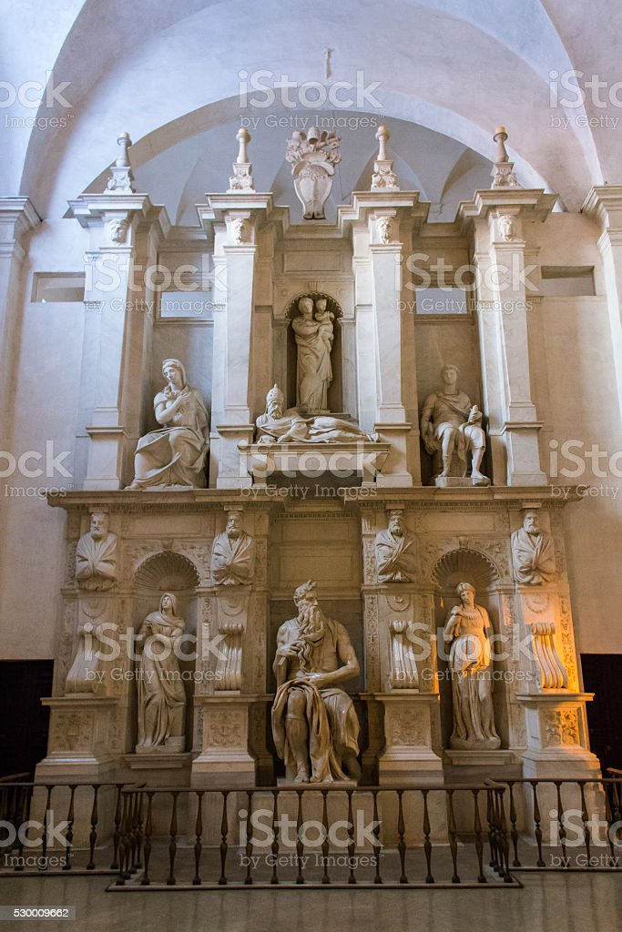 Tomb of Pope Julius II stock photo